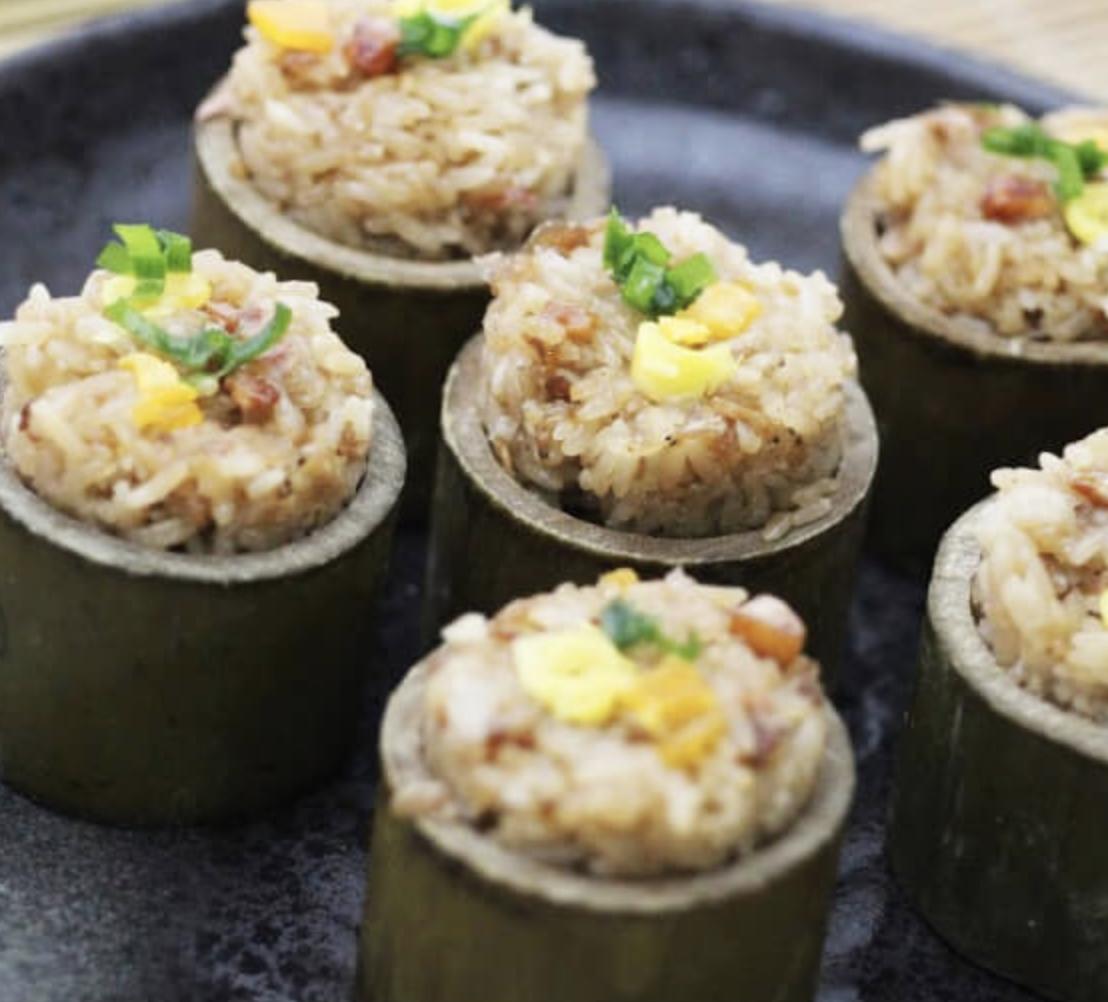 【買一送一】☆桂香鰻魚米糕☆ 竹筒包裝 精緻年菜/銅板價【陸霸王】→ 一次共帶回兩個