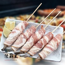 ☆培根捲蝦串 10隻/盒☆培根草蝦串 烤肉 中秋烤肉推薦【 陸霸王】