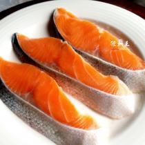 ☆薄鹽鮭魚片☆鹽引鮭日本進口 薄鹽鮭魚片 鱒鮭 5片/包  團購 烤肉【陸霸王】