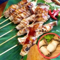 【陸霸王】杏鮑菇培根肉串_杏鮑菇捲豬肉 豬五花肉 串燒 烤肉推薦