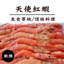 ☆天使紅蝦-霸王級☆業界最大規格 1kg(10~20隻) 生食等級 【陸霸王】