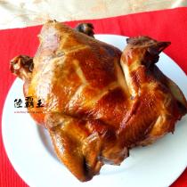 ☆超大烤土雞☆烤雞重1.6kg 胡桃木燻雞/茶香燻雞 口味任選 可當牲禮 拜拜  【陸霸王】