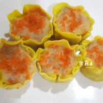 ☆蟹黃燒賣 30入/盒☆蒸的點心 港式飲茶專用燒賣【陸霸王】